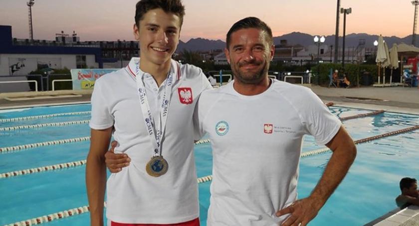 Pływanie, Szymon Kropidłowski ponownie podium Mistrzostw Świata - zdjęcie, fotografia