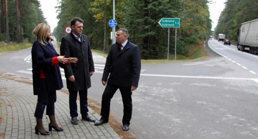 Transport, powstanie lewoskręt Łubiany - zdjęcie, fotografia