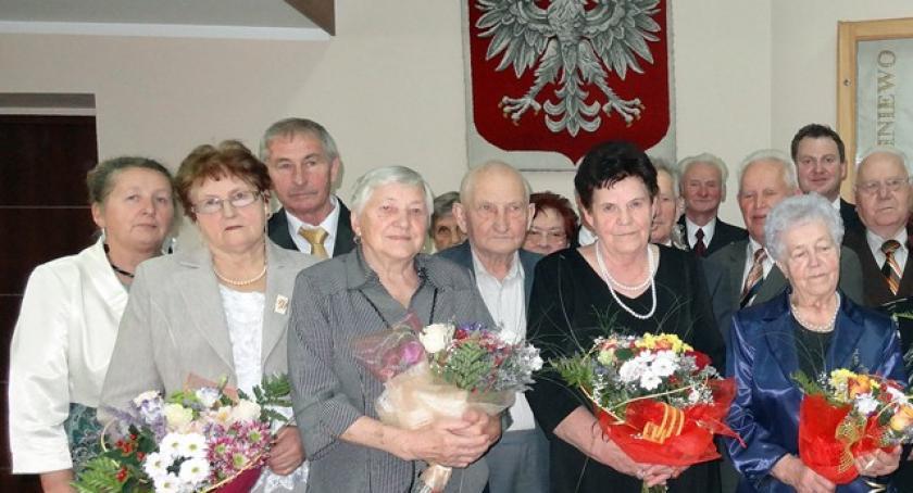 Seniorzy, Liniewo Świętowali złote szmaragdowe - zdjęcie, fotografia