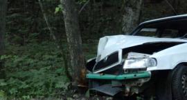 Wypadek w Kościerzynie. Auto uderzyło w drzewo