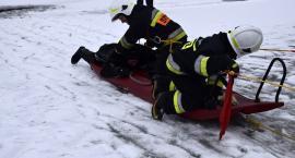Nowa Karczma. Ochotnicy ćwiczyli działania na lodzie