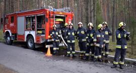 Ćwiczyli na wypadek pożaru lasu - zbudowali linię gaśniczą na 2,5 km