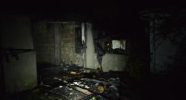 Kościerzyna. Spłonął budynek gospodarczy