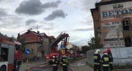 Kościerzyna. Pożar kamienicy przy ulicy Kartuskiej