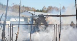 Dziemiany. Potężny pożar na terenie tartaku