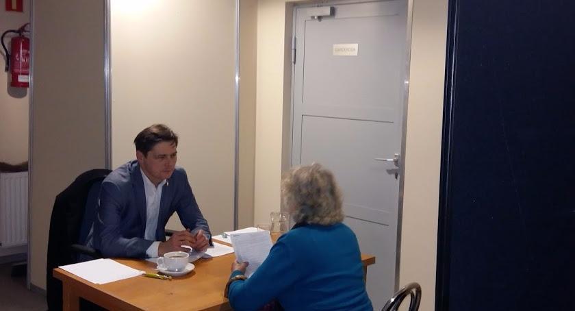 konsultacje, Spotkanie Burmistrzem Wąsowiczem - zdjęcie, fotografia