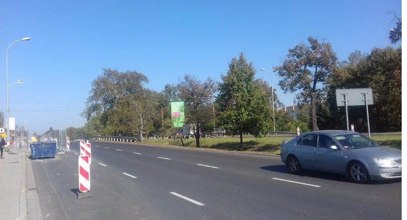 """ulice, infrastruktura """"zielona fala"""" Żwirki Wigury - zdjęcie, fotografia"""