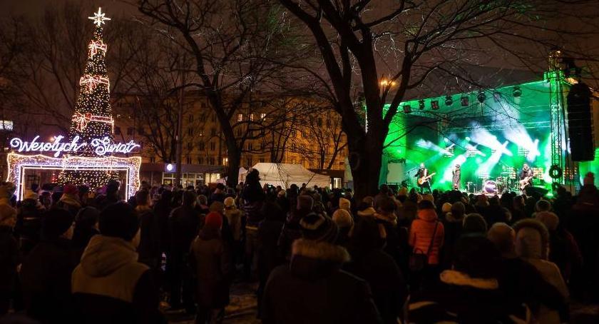 Muzyka, Odpalanie choinki Koncert Cerekwickiej - zdjęcie, fotografia