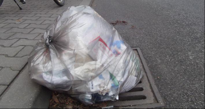 Gospodarka odpadami, Nowoczesna okolica Szpitala Pediatrycznego - zdjęcie, fotografia
