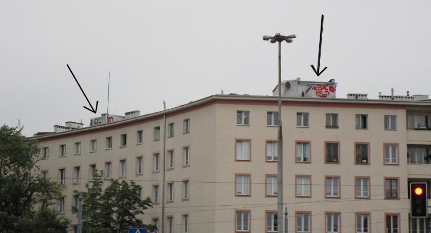 Plac Narutowicza, takie bohomazy będą chlubą zacnego klubu - zdjęcie, fotografia