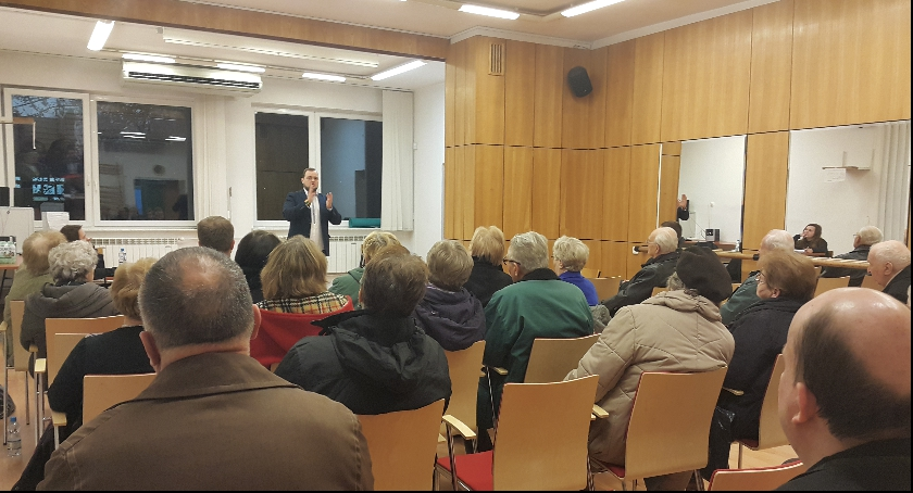 konsultacje, Spotkanie mieszkańcami - zdjęcie, fotografia