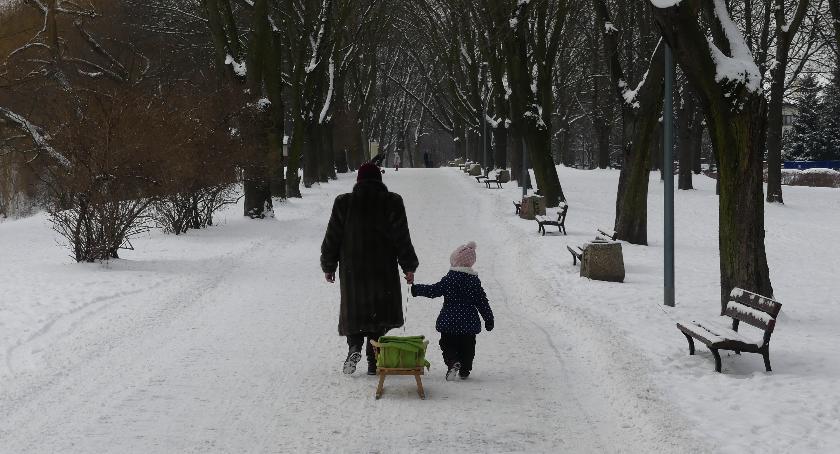 rekreacja, Szczęśliwicki dobre miejsce zimowy spacer - zdjęcie, fotografia