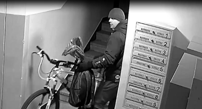 Bezpieczeństwo, Poszukiwany złodziej rowerów - zdjęcie, fotografia