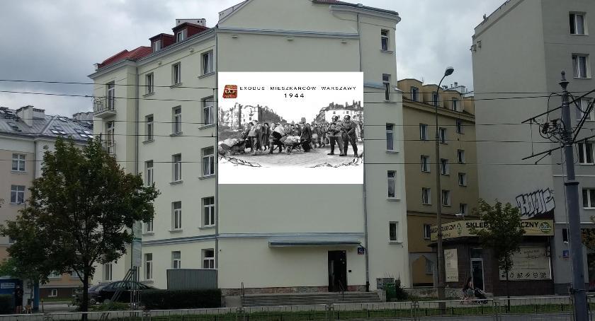 Projekt muralu przy Grójeckiej 42a