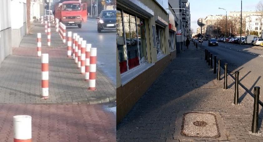 ulice, Koniec! Słupków środku chodnika - zdjęcie, fotografia