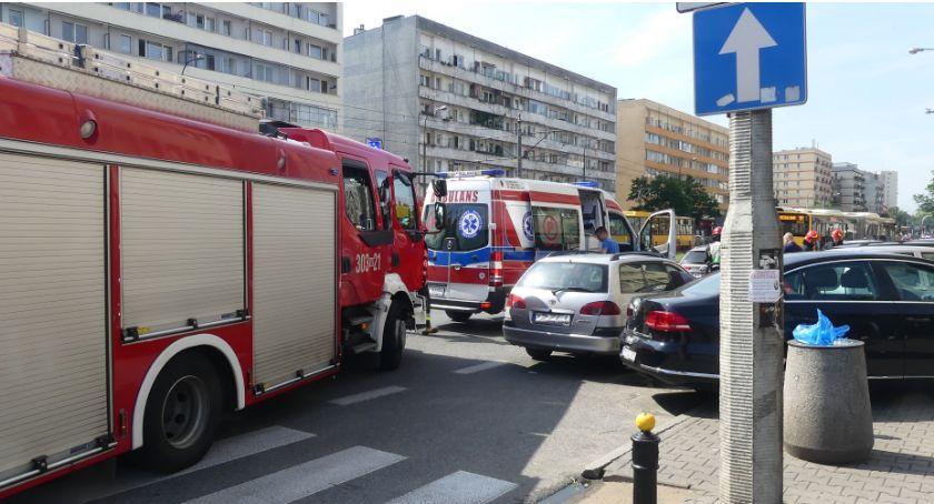Bezpieczeństwo, Wawelska który wypadek - zdjęcie, fotografia