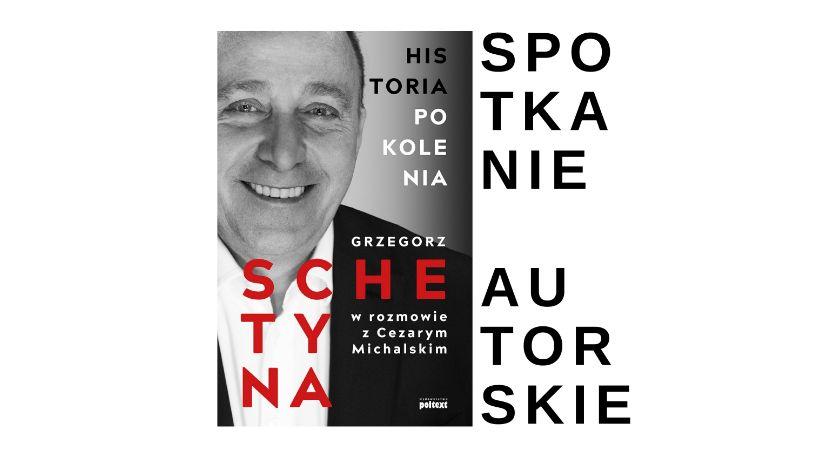 literatura, Spotkanie autorskie Grzegorza Schetyny - zdjęcie, fotografia