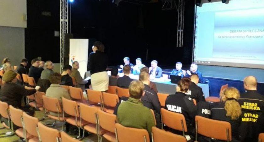 Bezpieczeństwo, Debata bezpieczeństwie Dzielnicy Włochy - zdjęcie, fotografia