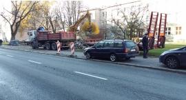 Budowa parkingu przy Białobrzeskiej