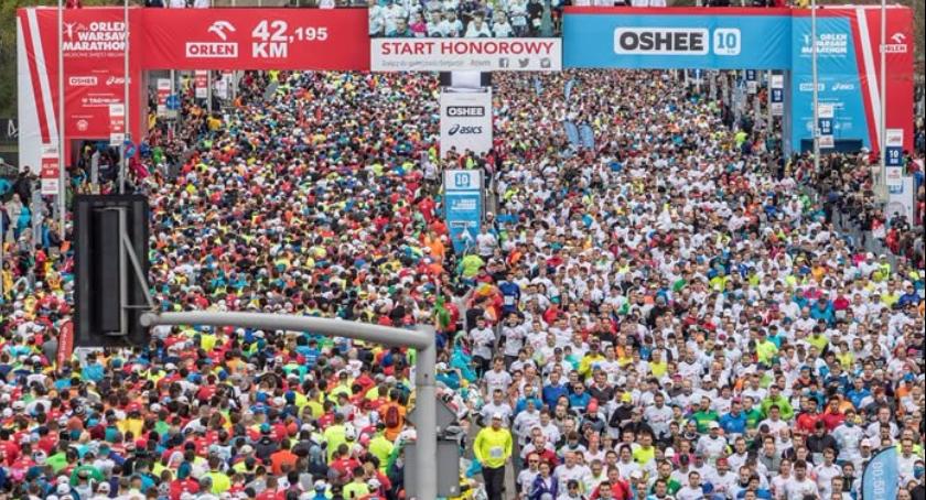 Bieganie, niedzielę kwietnia odbędzie Orlen Warsaw Marathon Będą wyłączone ruchu ulice - zdjęcie, fotografia
