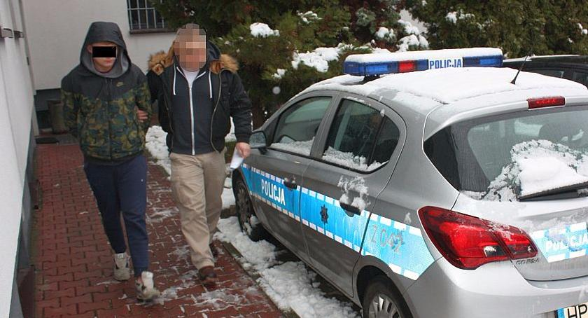 Nieletni diler narkotykowy Norbert K. zatrzymany w swoim własnym mieszkaniu z marihuaną