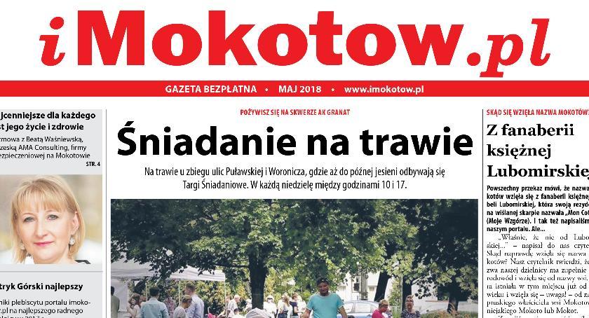Oto nowy numer bezpłatnej gazety portalu imokotow.pl, dostępnej już od piątku w naszej dzielnicy