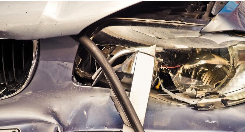 Wypadki, Wypadek drogowy Domaniewskiej - zdjęcie, fotografia