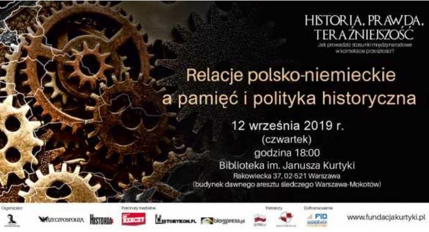 Historia, Debata Relacje polsko niemieckie pamięć polityka historyczna - zdjęcie, fotografia