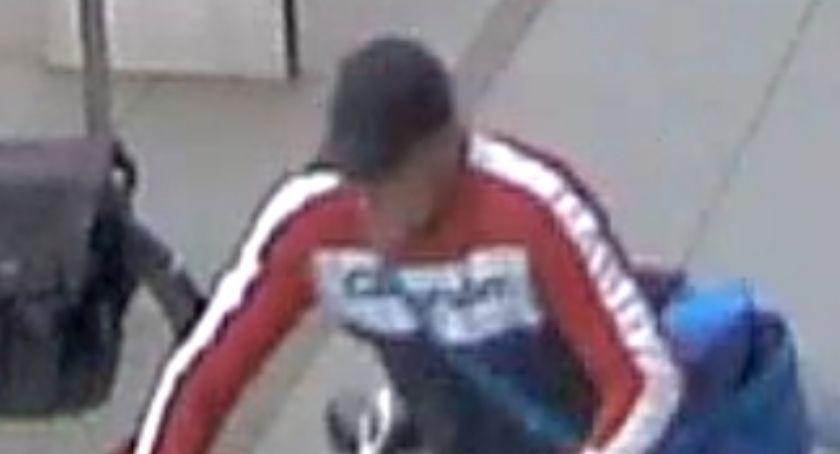 Kradzieże i rozboje, Policja poszukuje podejrzanego kradzież roweru - zdjęcie, fotografia