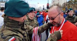 Burmistrz Bogdan Olesiński ze swoim zastępcą Krzysztofem Rinasem na czele Biegu Niepodległości