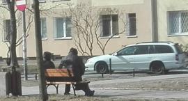Ławeczka dla pijaczków, róg Konduktorskiej i Piaseczyńskiej, sponsorowana przez Urząd Dzielnicy?