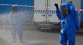 Wyciek substancji chemicznych obok magazynów terminalu cargo przy ul. Wirażowej