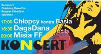 Chłopcy kontra Basia, DagaDana, Misia FF - koncert na Skwerze AK Granat
