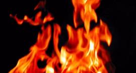 Pożar na ulicy Fryderyka Joliot-Curie, ewakuacja starszego lokatora
