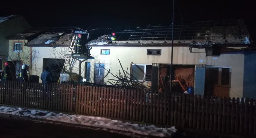 Pożary, Pożar gospodarstwa Kacprowicach - zdjęcie, fotografia