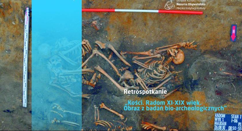 Inne, Retrospotkanie Historia Radomia odczytywana kości - zdjęcie, fotografia