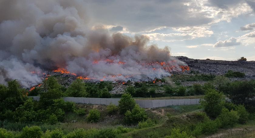 Pożary, Pożar wysypisku śmieci Radomiu! [FOTO] - zdjęcie, fotografia