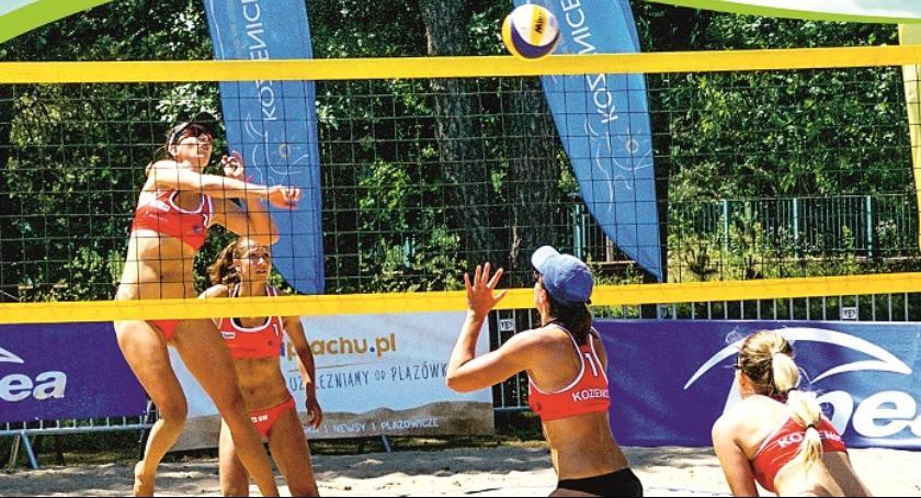 Siatkówka, Ogólnopolski Turniej Siatkówki Plażowej Kobiet Kozienicach - zdjęcie, fotografia