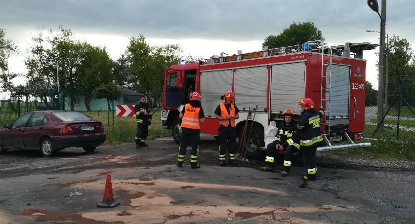 Wypadki, Groźna kolizja ulicy Lubelskiej [FOTO] - zdjęcie, fotografia