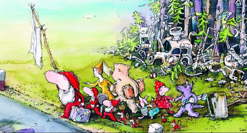 """Wystawy, """"STOP zaśmiecaniu lasów"""" Wystawa rysunku satyrycznego Łaźni - zdjęcie, fotografia"""