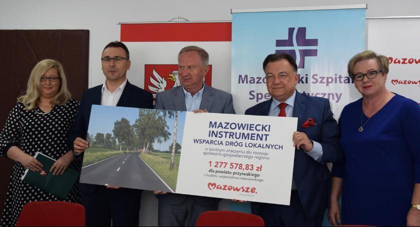 Powiat Radomski, Prawie przebudowę drogi powiecie przysuskim [FOTO] - zdjęcie, fotografia