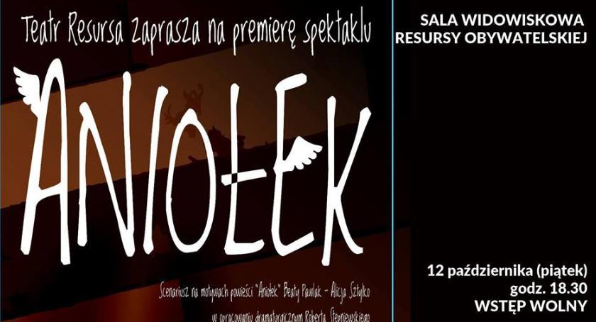 Teatr, Aniołek premiera spektaklu Teatru Resursa - zdjęcie, fotografia