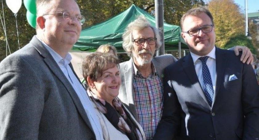 Ważne, Partia Zieloni poparła prezydenta Radosława Witkowskiego - zdjęcie, fotografia
