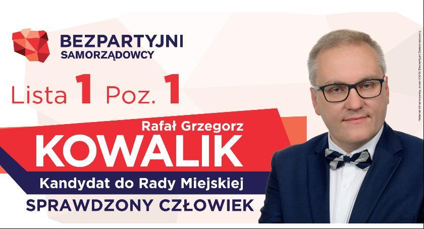 Polityka, Rafał Grzegorz Kowalik kandydat Miejskiej - zdjęcie, fotografia