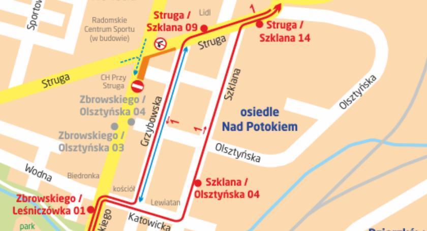 Komunikaty i ogłoszenia, Zamknięcie odcinka ulicy Zbrowskiego Objazd autobusu - zdjęcie, fotografia