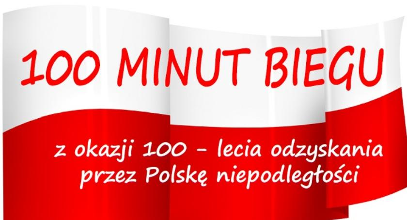 Sport - Inne, minut biegu okazji lecia odzyskania przez Polskę Niepodległości - zdjęcie, fotografia