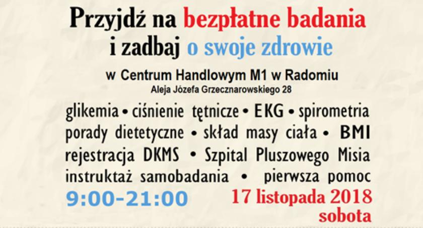 Informacje z Radomia i okolic , Zdrowie Kontrolą przyjdź bezpłatne badania zadbaj swoje zdrowie! - zdjęcie, fotografia