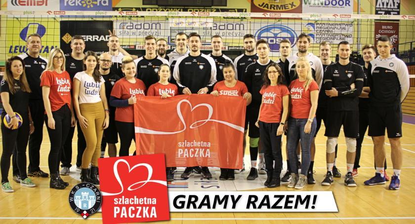 Siatkówka, Cerrad Czarni Radom wspierają Szlachetną Paczkę! - zdjęcie, fotografia