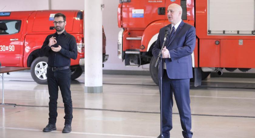 Informacje z Radomia i okolic , Minister Joachim Brudziński Europejskim Numeru Alarmowego Radomiu - zdjęcie, fotografia