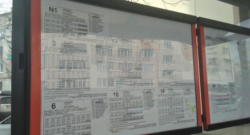 Komunikaty i ogłoszenia, Korekty rozkładów jazdy linii - zdjęcie, fotografia